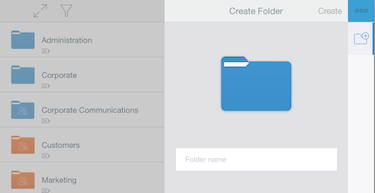 Creating and deleting folders – Support Home on