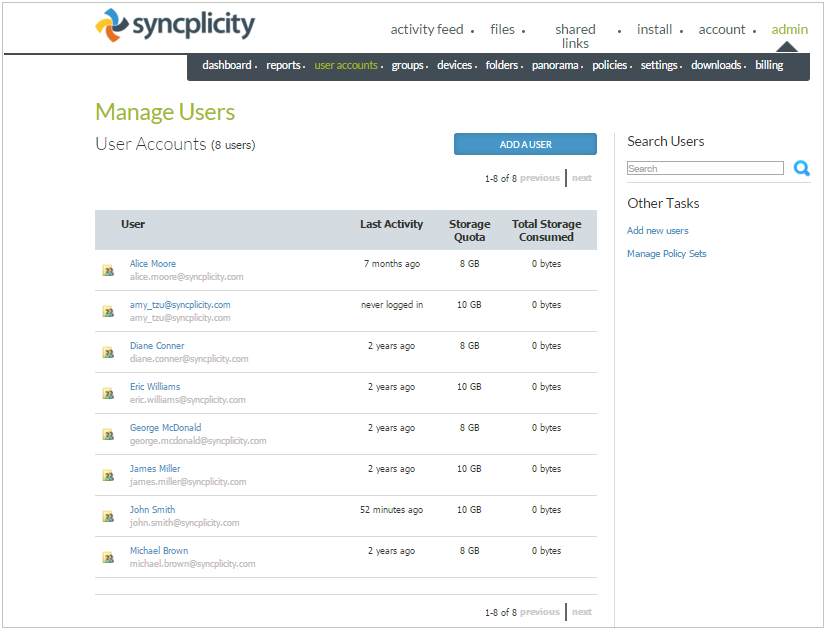 Manage user accounts – Support Home